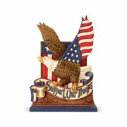 Jim Shore Heartwood Creek Support Our Troops Eagle Usa Patriotic Figurine