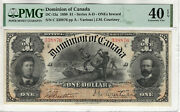 1898 1 Dominion Of Canada Dc-13a Ones Inward Pmg Extremely Fine Xf Ef 40 Epq