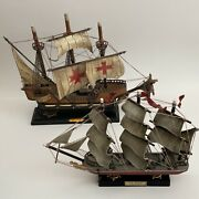Columbus Flagship Santa Maria 1492 And Sea Witch Clipper 1846 Vintage Collectible