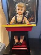 Suzy Smart Deluxe Reading Doll With Desk Vintage