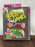 Vintage 1992 Tyco Notebook Games Baseball Game Toy School