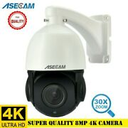 8mp 4k Ip Cctv Security Camera Outdoor Ptz 30x Zoom H.265 Dome Poe Two Way Audio