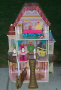 Kidkraft Beauty And Beast Disney Princess Belle Furniture And Wooden Doll House
