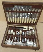Vintage Old Antique Boxed 1930s Silver Plated Cutlery Set Astral Firth Brearley