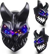 Led Light Up Slaughter To Prevail Mask With Movable Mouth Kid Of Darkness Demoli