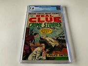 Real Clue Crime Stories V8 2 Cgc 7.0 Cool Gangster Cover Hillman Comic 1953