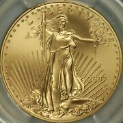 2007-w 50 Burnished One Ounce Gold Eagle Pcgs Sp70