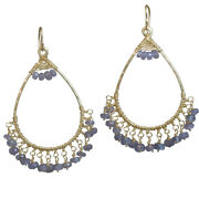 Kashmir Filigree Drop Earrings With Your Choice Of Rondelle Gemstone
