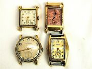 Vintage Men's Wittnauer, Gruen And Bulova Wrist Watches -lot Of 4-repair/projects