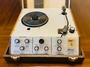 Vintage Professional Clinton P-400 Turn Table And Amplifier With Travel Case