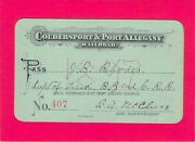 1897 Coudersport Port Allegany Low 407 Railroad Railway Rr Ry Pass