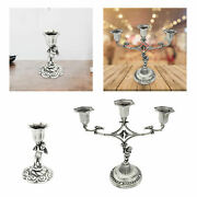 Sacred Candle Holder Antique Tin Candlestick For Events Christmas Halloween