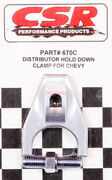Csr Performance Chevy Distributor Hold Down Clamp - Clear 670c