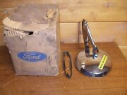 1964-1966 Ford Nos Drivers Side Rear View Mirror Mustang Falcon Convertible