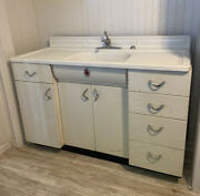 Vintage Youngstown Kitchen By Mullins Metal Cabinet Unit Sink Drawers 1950 Retro