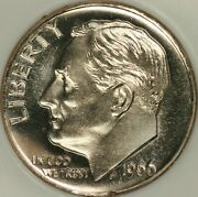 1966 Sms Roosevelt Dime Ngc Ms69cam