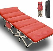 Folding Camping Cot Outdoor Military Hiking Sleeping Cots Bed W/mat And Carry Bag