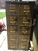 7 Art Metal Skinny 12andrdquo Wide Industrial File Cabinets Rare Size Wwii Era Nice