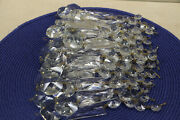 Lot Of 30 Glass / Crystal Basket Chandelier Replacement Prism Strands 6.5 Long