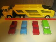Mighty Tonka Car Carrier/hauler W/vintage Jeeps Classic Gc