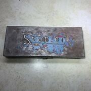 Late 1940s - Early 1950s Rare Vintage Snap On Metal Tool Storage Box