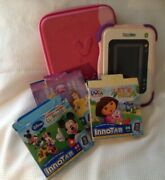 Vtech Innotab 1 Kids Tablet, Pink With Packpack Holder And Three Games