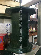 28x15 Hallway Decorative Marble Green Stand Base For Table Top Decor E548b