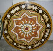 Traditional Marble Coffee Dining Table Top Stunning Inlaid Hallway Decor H5303