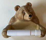 Rivers Edge Bear Toliet Paper Holder Resin, Received As Gift