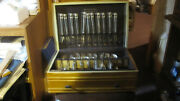 Vintage 1847 Rogers Bros Silverplate Flatware Set With Chest 89 Pieces