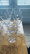 Baccarat Crystal Onde/wave - Red/white Wine Glasses, Champagne, Water Goblets