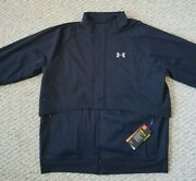 Under Armour Cold Gear Reactor Mens New Black Full Zip Running Jacket Size Xl