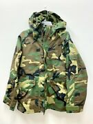 Us Military Ecwcs Gore Tex Cold Weather Woodland Camo Parka - Small Short.