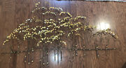 Vintage Curtis Jere Mixed Metal Tree Grove Wall Hanging Sculpture 70s