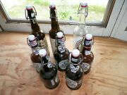 8 Used Wire Bail Top Bottles For Beer Wine 3 Tall, 5 Short, 16.9 Ounces 500 Ml