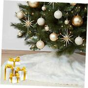 36andrdquo Faux Fur Christmas Tree Skirtsnowy White For Holiday Tree Decorations
