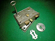 D And M New Haven Passage Lock W/keeper And Key - Circa 1865 Works Great 16447