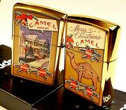 Zippo Camel Christmas High Polish Brass Case Cz Limited Edition Only50 Made 2020