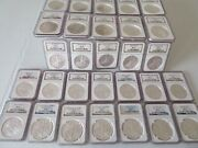Coins Dollars 52 American Eagles Ngc Graded Lot Ms69 1986 Thru 2021 T-1 /t2