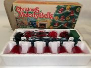 Christmas Melody Bells By Yuletide 9 Musical Lighted Blinking Songs Vintage New