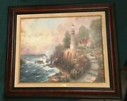 The Light Of Peace Thomas Kinkade 22x26 S/n Canvas 1998 Limited Edition