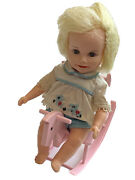 Vintage Deluxe Reading Suzy Cute Baby Doll Original Clothes 1960 Rocking Horse
