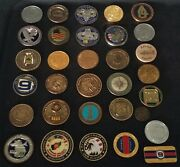 32 Coins Challenge Coin Lot Set Collection Military All Services Us See All Pics
