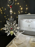 Waterford Crystal Snowflake Wishes For Joy 2011 Christmas Ornament Nib Mint 1st