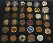 36 Coins Challenge Coin Lot Set Collection Military All Services Us See All Pics