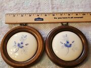Lasting Products Vintage Hand Painted Ceramic Tiles In Frames