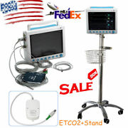 Capnograph Co2 Icu Vital Sign Patient Monitor Medical Stand Rolling Trolley Cart