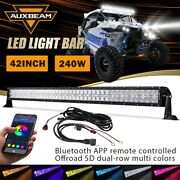 Auxbeam For Jeep Pickup 42 240w Led Light Bar Rgb Bluetooth Combo Beam Offroad