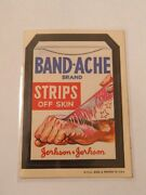 Band-ache White Back 1973 Wacky Packages Series 1 Sticker Parody Vintage