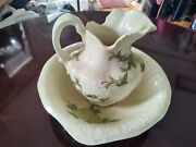 Vintage Cash Family Pitcher And Bowl 1945 Antique Hand Crafter